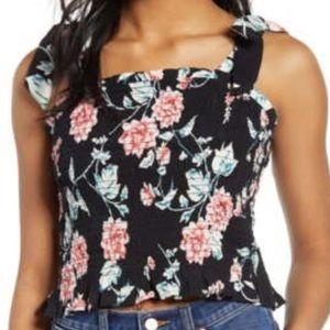 BP floral black shirt
